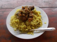 Curry rice with chicken stew