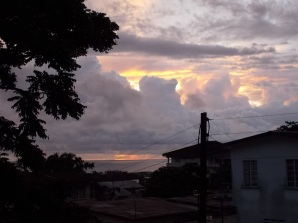 I cieli della Sierra Leone dalla Finestra