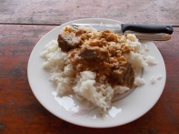 Rice with groundnut stew - riso con stufato di arachidi