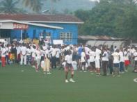 Concorrenti a raduno per la partenza