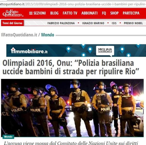 Il fatto quotidiano brasile uccide bambini di strada