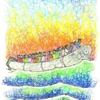 Mediterranean Hope - disegni di Francesco Piobbichi ripresi da Finestra su Lampedusa
