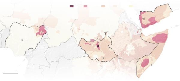 Sud Sudan, Nigeria, Somalia, Yemen
