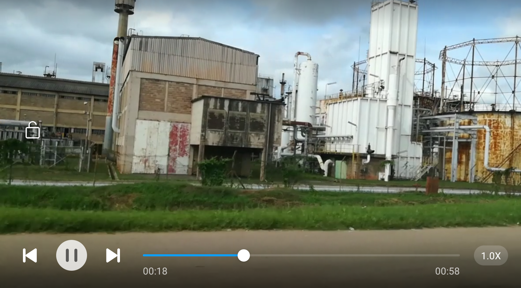 Video Nuvole Zambia Finestra su longacres industrial area